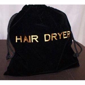 Other - Black Velvet Hair Dryer Pouch